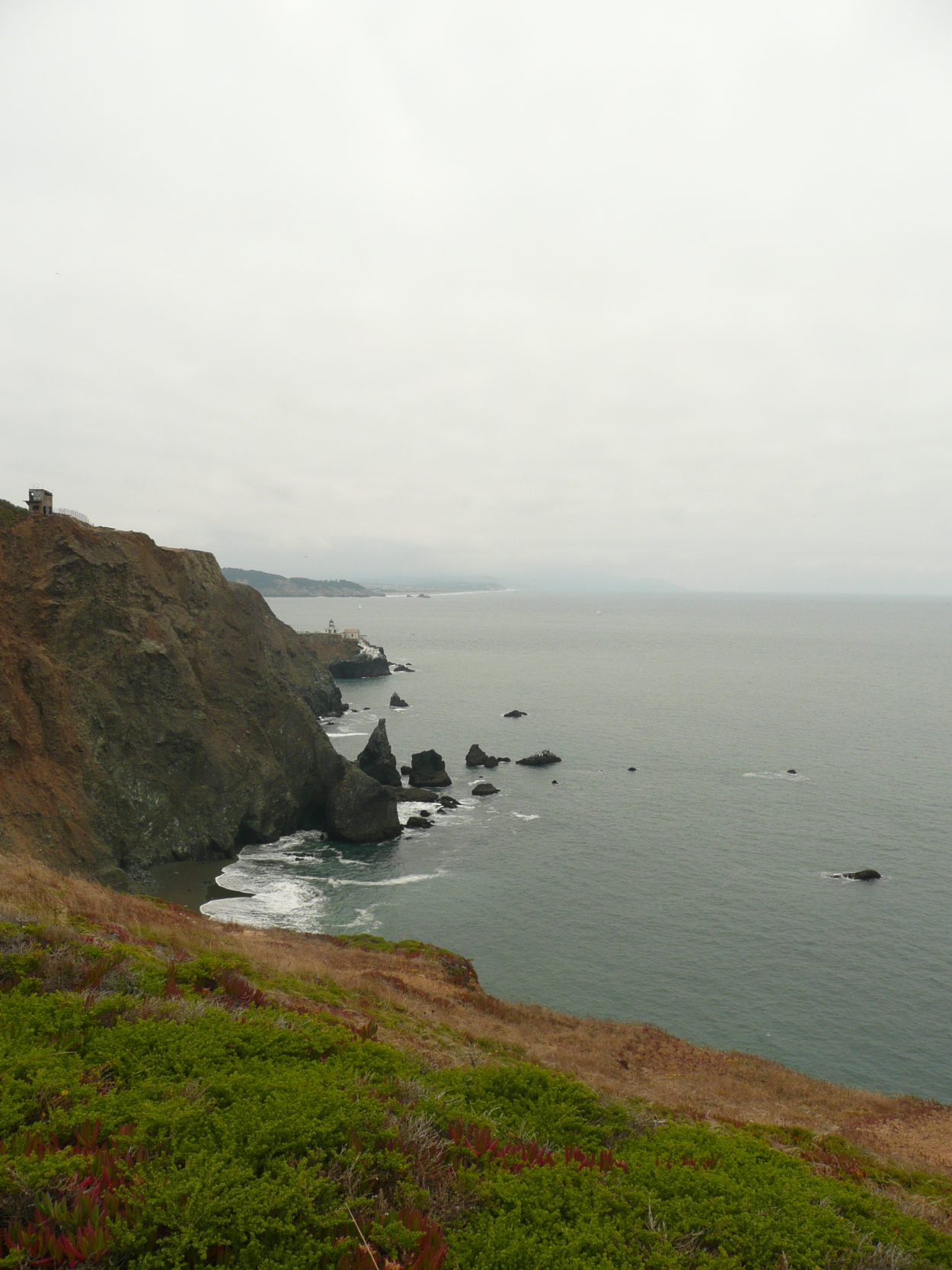 Photo of the coast near SF from near the Nike Missile Site SF-88 in the Marin Headlands