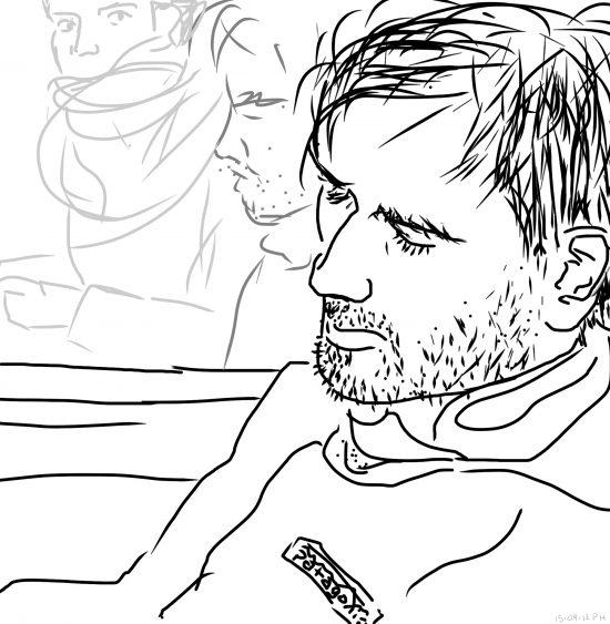 iPad drawing of Sam