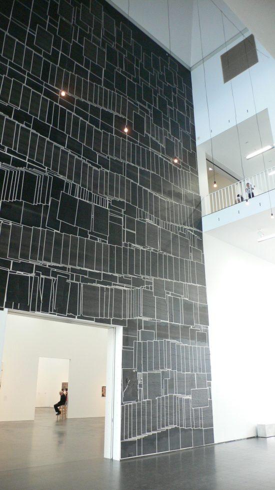 Photo of Mark Bradford installation at the MCA Chicago