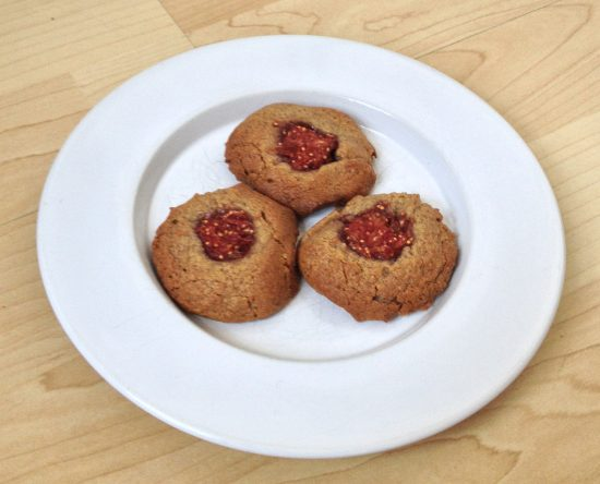 Fig and peanut butter cookies
