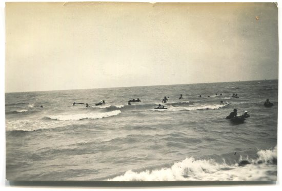 Black and white photo of North Beach at Corpus Christi on 20 May 1940