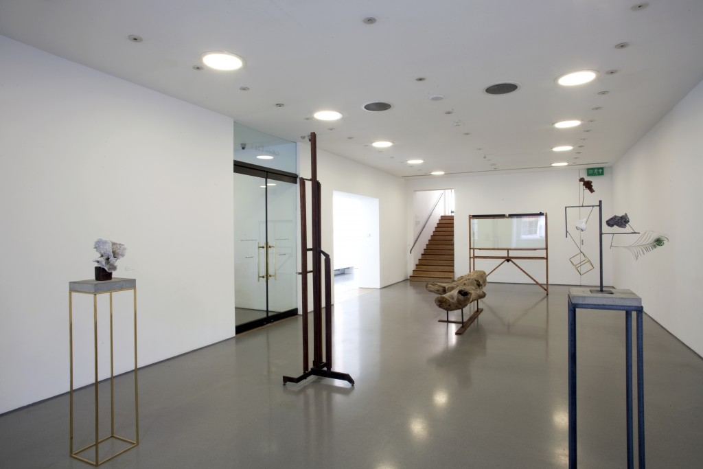 Installation view of the Carol Bove / Carlo Scarpa exhibition at the Henry Moore Institute