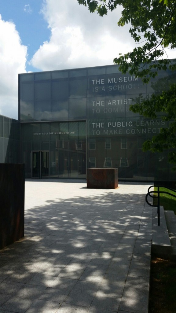 Photo of the Colby Museum entrance