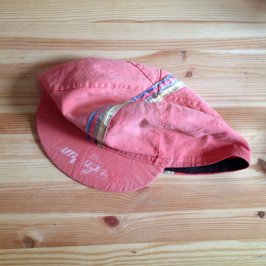 90s Campagnolo cycling cap after repairs