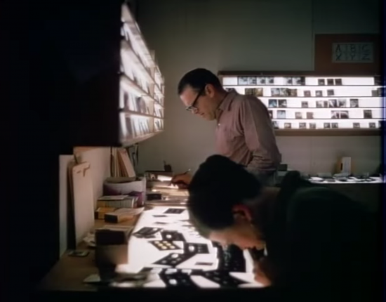 Still from Design Q & A, questions asked by Madame L'Amic and answered by Charles and Ray Eames
