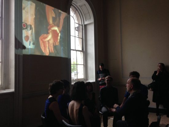 Photo taken by Laura M A Harford of Musarc performing a Hefin Jones piece for Up Projects