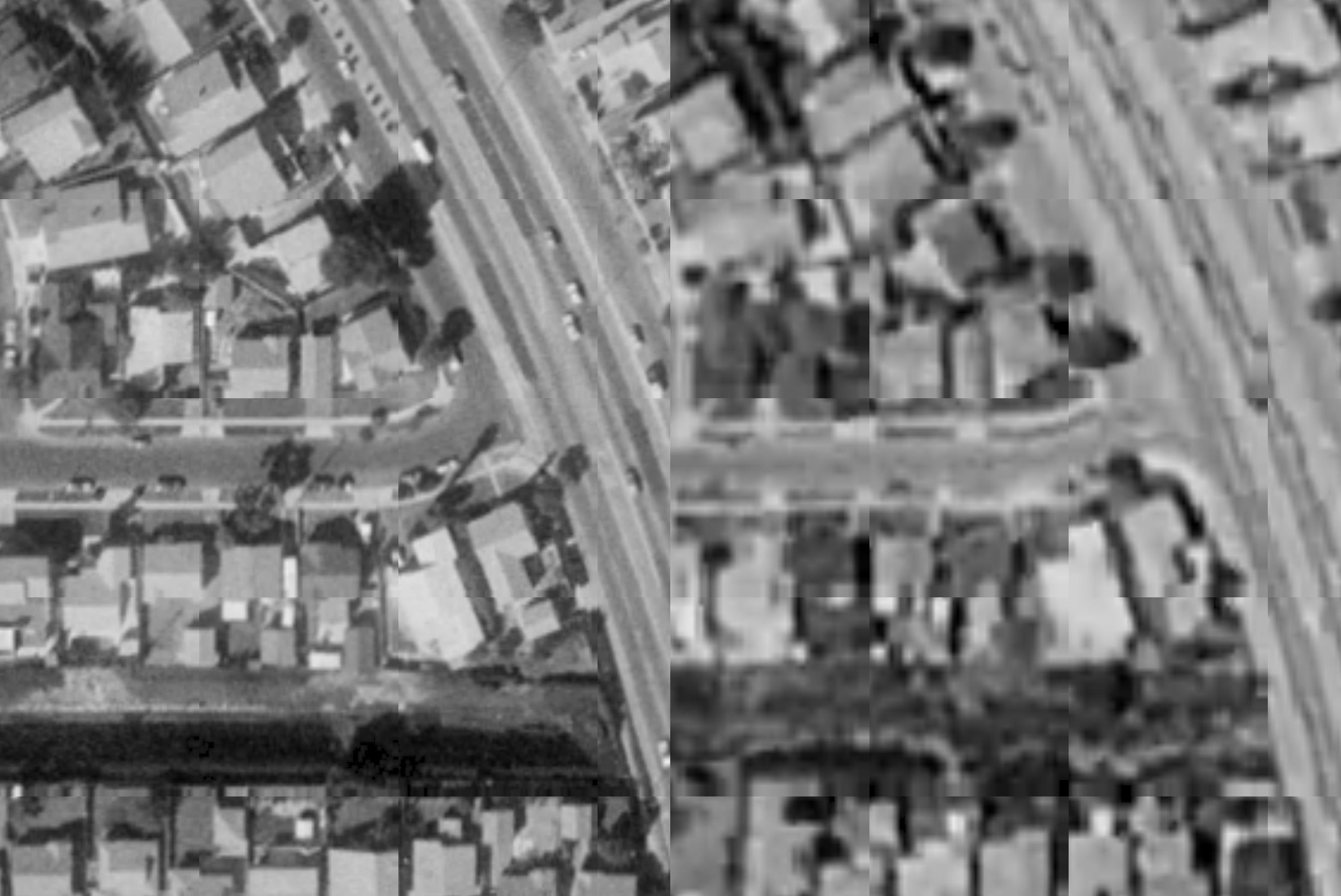 Satellite view of Deelane Street and Anza Avenue (Torrance, CA) in 1980 and 1994