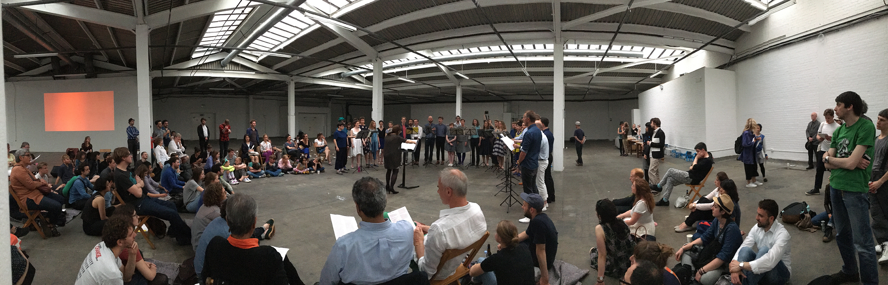 Musarc performing at the Old Truman Brewery on the summer solstice in 2016