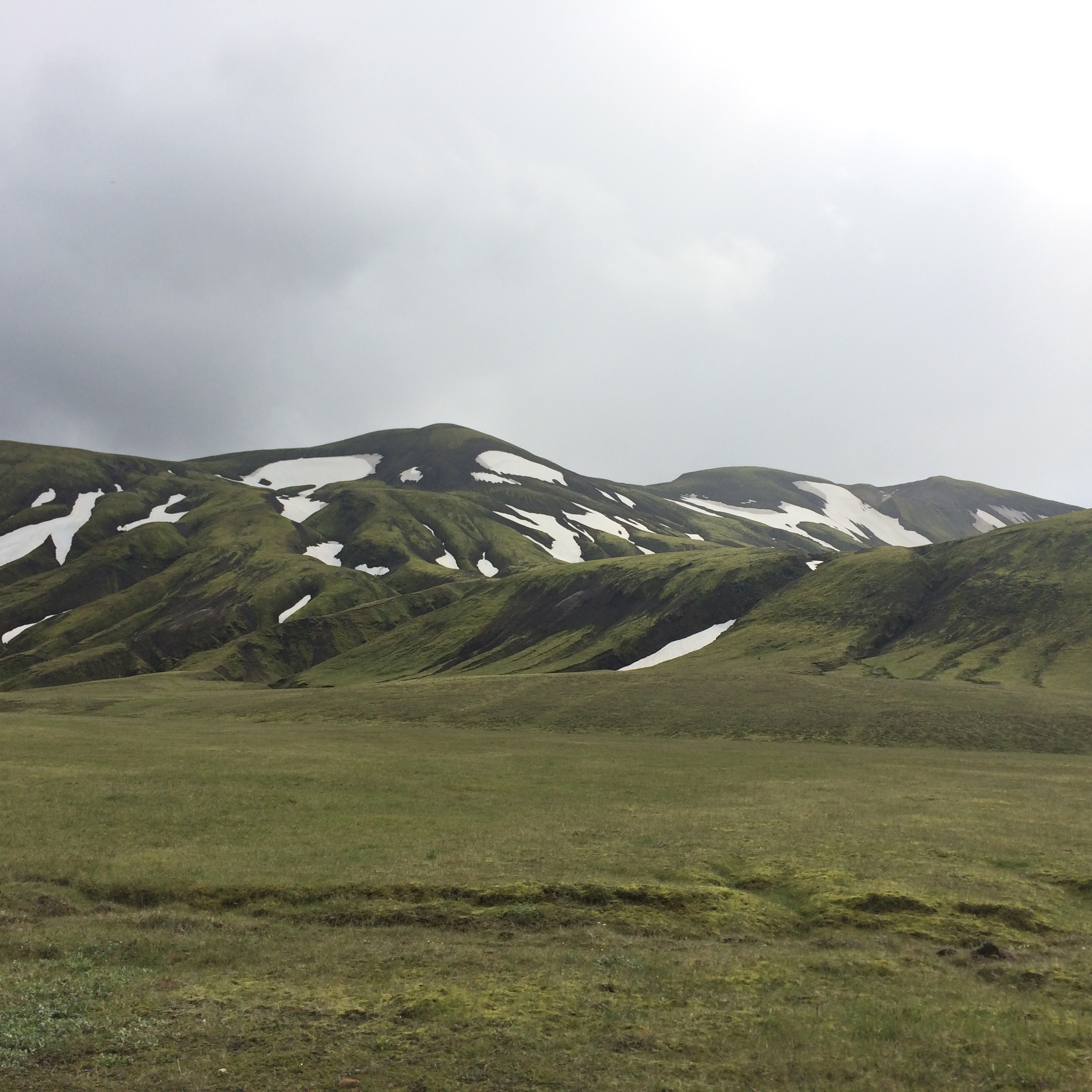 A photo of the the Icelandic highlands along Landmannaleið near Lifrarfjallavatn