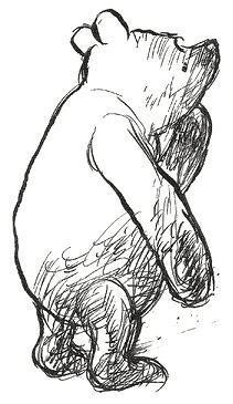 Winnie the Pooh drawn by E.H. Shepard