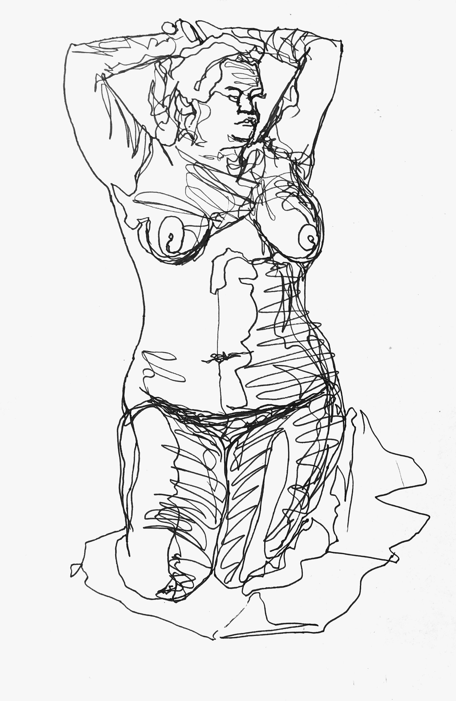 10 minute life drawing-drawing-2-10min