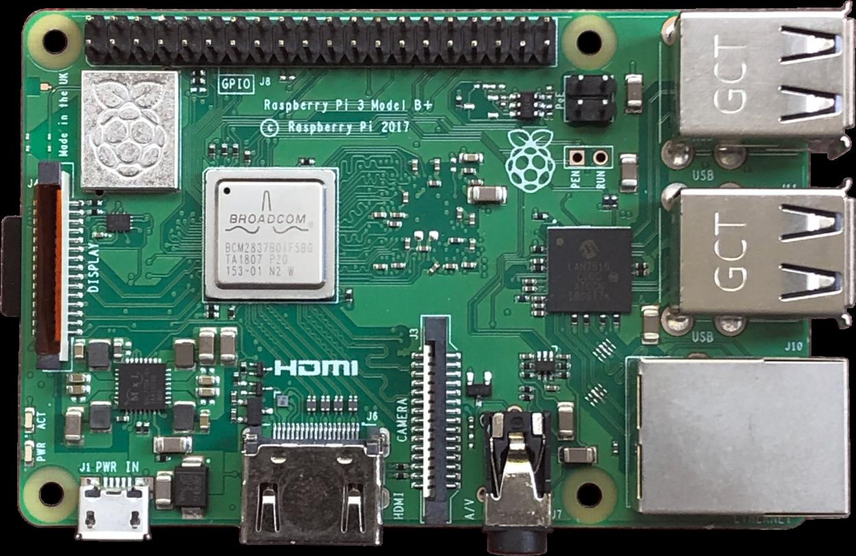 A Raspberry Pi 3 Model B+
