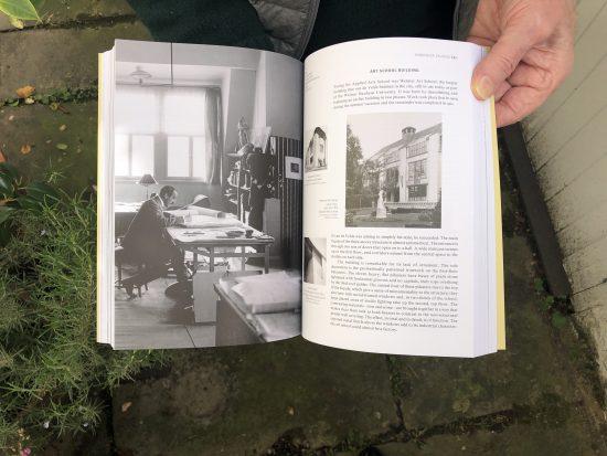Spread from book on Henry van de Velde by Richard Hollis