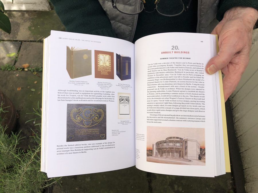 Spread from book on Henry van de Velde by Richard Hollis