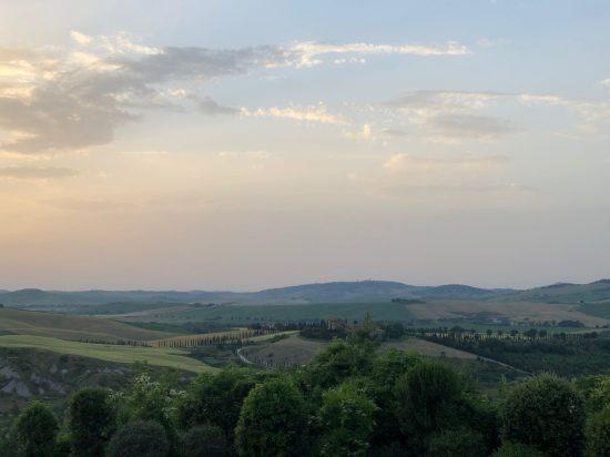 Tuscan landscape from Borgo di Castelvecchio