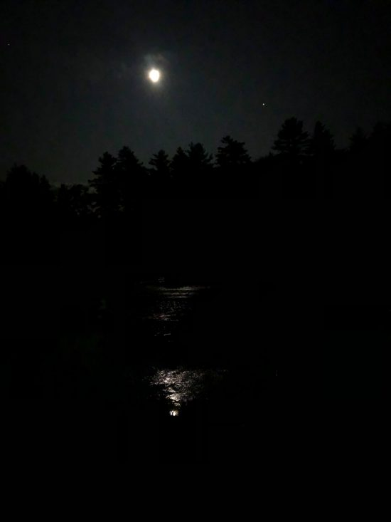 Ossipee River at night
