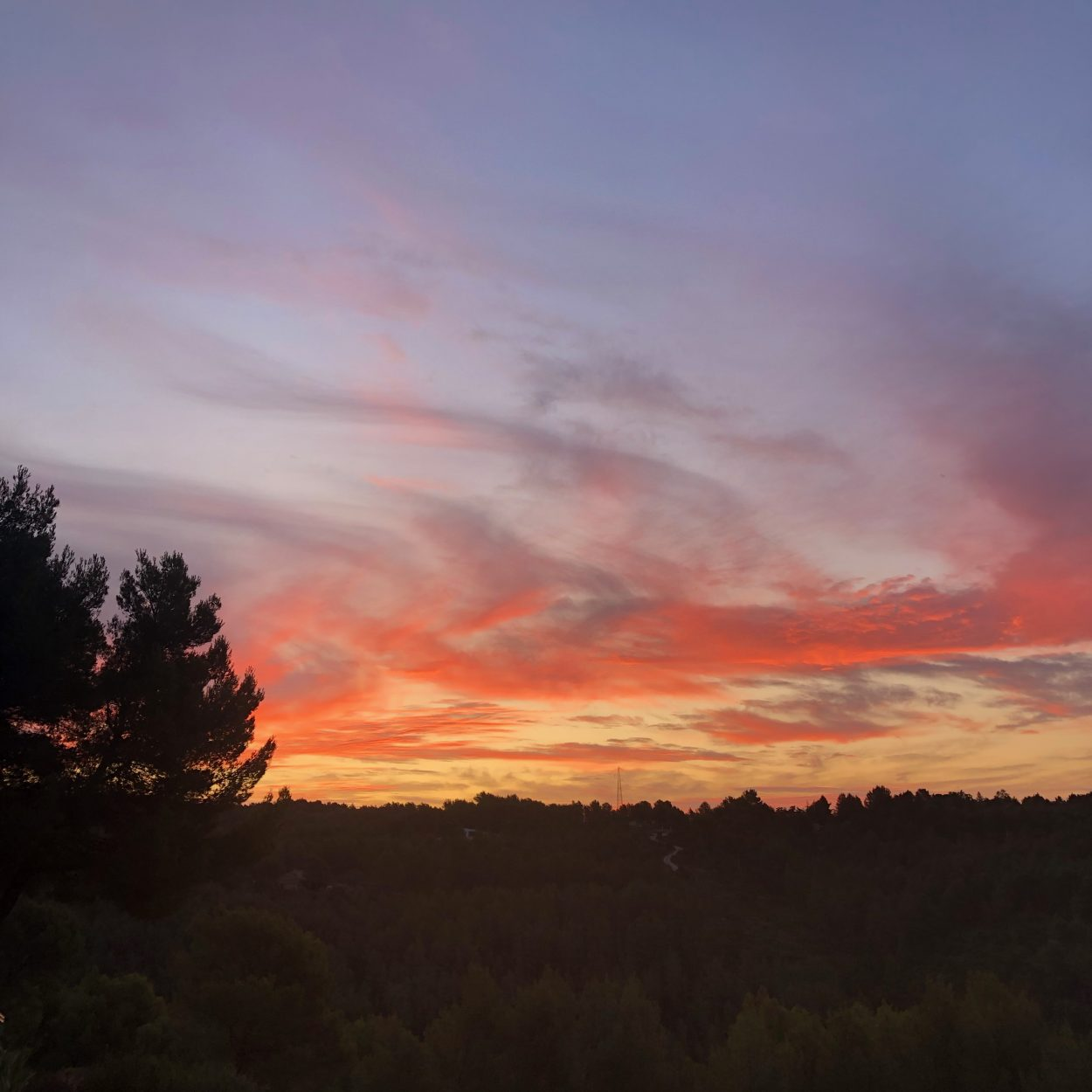Sunrise in October in Ceyreste, France