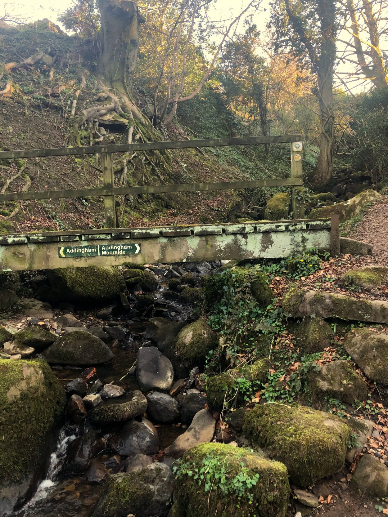A bridge over a stream in Addingham, West Yorkshire