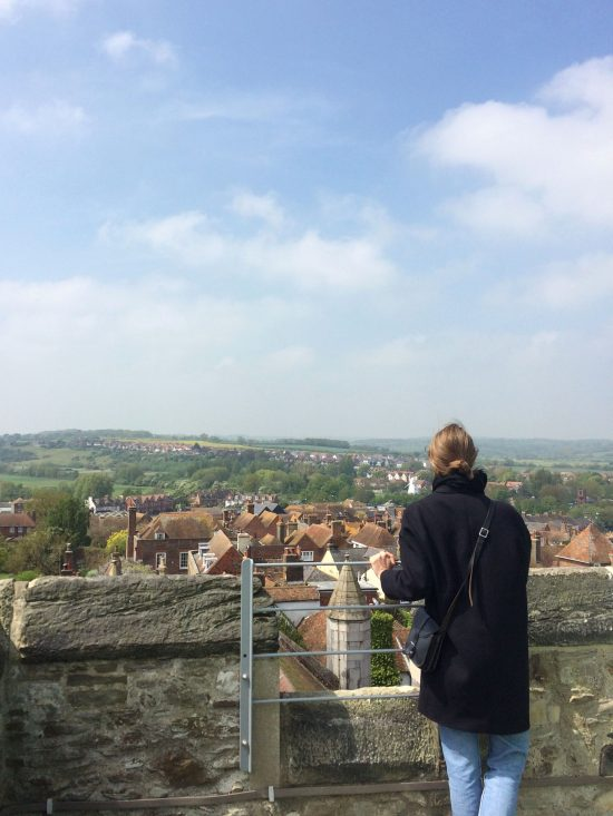 A woman looking at the view in Rye