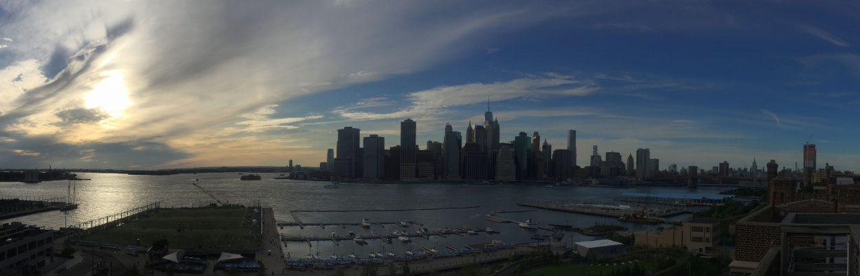 A photo of NYC from a rooftop in Brooklyn Heights