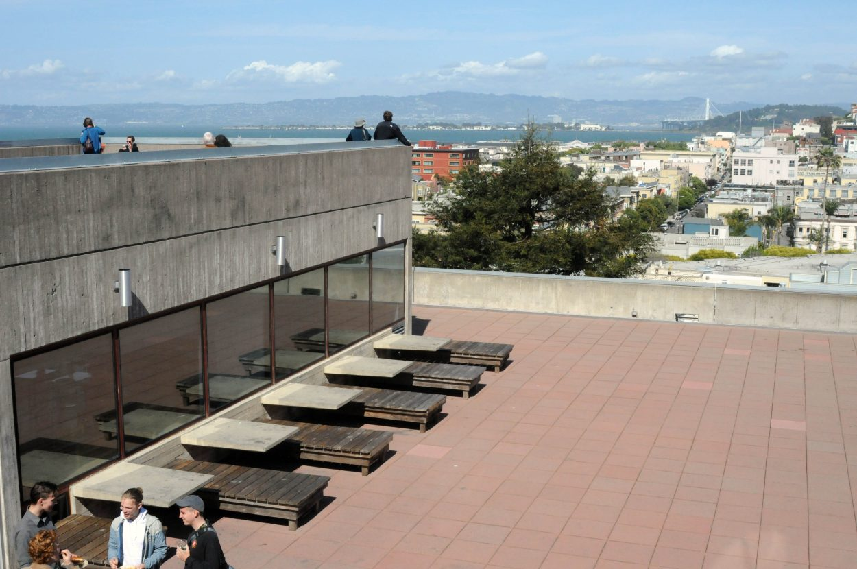 The cafe and terrace at SFAI
