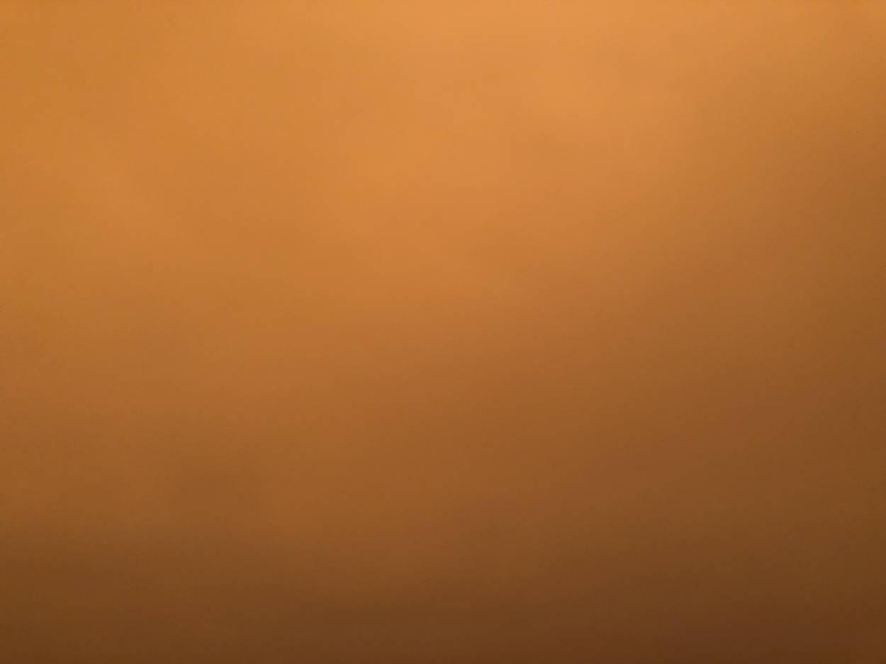 Photo of the orange smoke in San Francisco