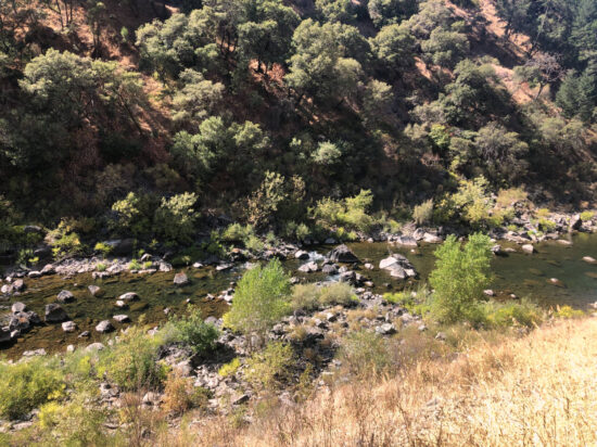 A photo of the North Fork of the American River near Clark's Hole